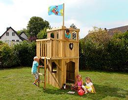 Speeltorens en schommels
